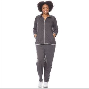 Anthony Richards Women's Striped Sweat Suit Set 4X
